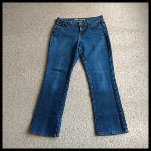 💕 Old Navy Sweet Heart boot cut blue jeans
